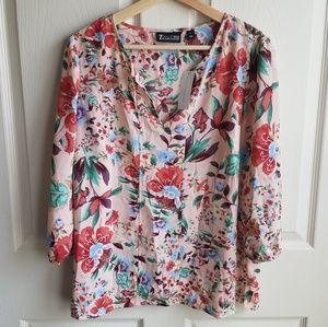 NWT New York & Company Pink Blouse Size Medium